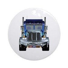18 Wheeler Ornament (Round)