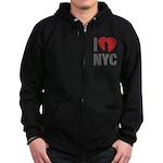 I Love NYC Zip Hoodie (dark)