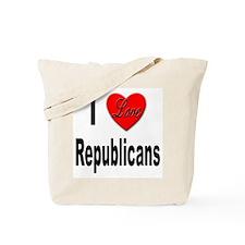 I Love Republicans Tote Bag