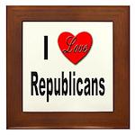 I Love Republicans Framed Tile