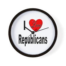 I Love Republicans Wall Clock