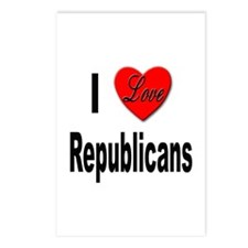 I Love Republicans Postcards (Package of 8)