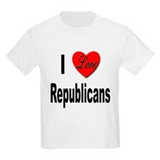 I Love Republicans Kids T-Shirt