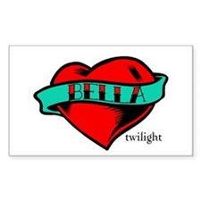 Twilight Bella Heart Tattoo Rectangle Decal
