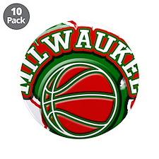 """Milwaukee Basketball 3.5"""" Button (10 pack)"""