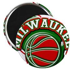 Milwaukee Basketball Magnet