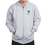 Green Dove Zip Hoodie