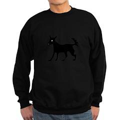 Black Dog Silhouette Sweatshirt (dark)