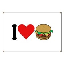 I Love Hamburgers (design) Banner