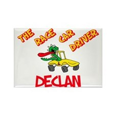 Declan Race Car Driver Rectangle Magnet