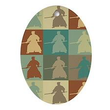 Aikido Pop Art Oval Ornament