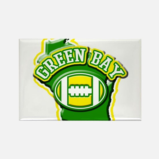 Green Bay Football Rectangle Magnet
