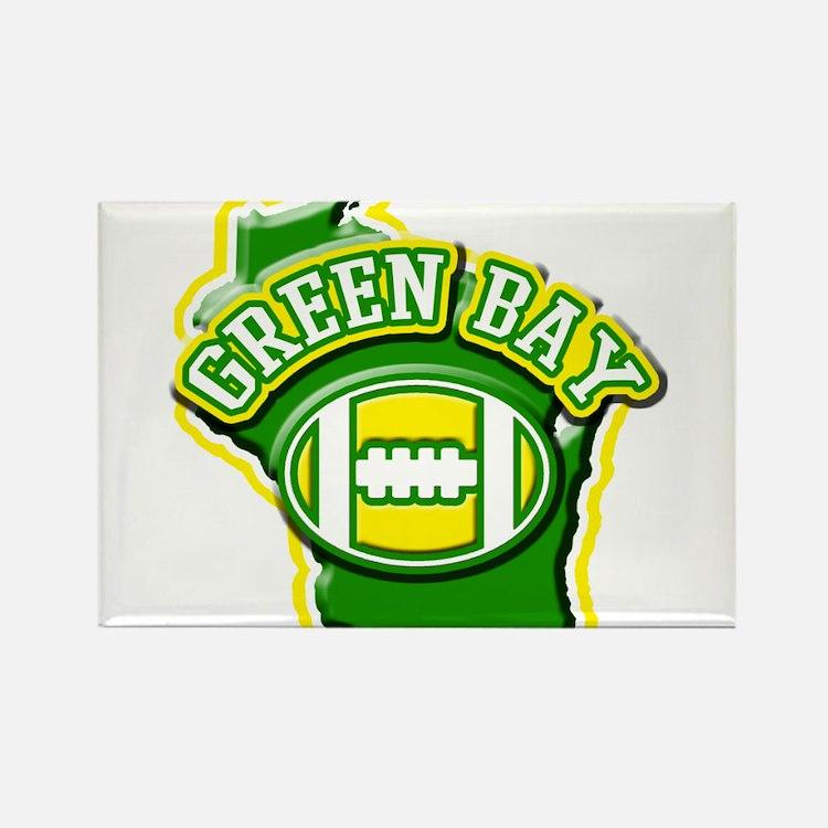 Green Bay Football Rectangle Magnet
