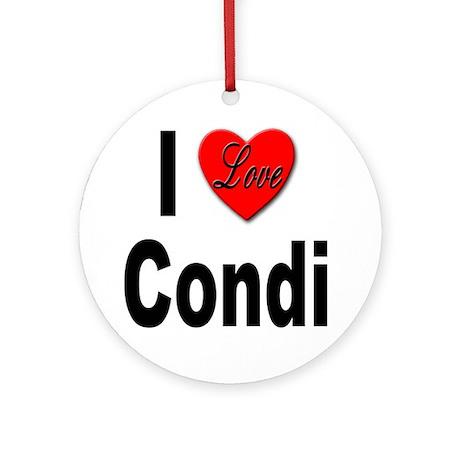 I Love Condi Ornament (Round)