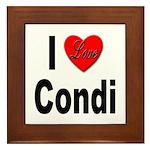 I Love Condi Framed Tile