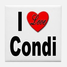 I Love Condi Tile Coaster