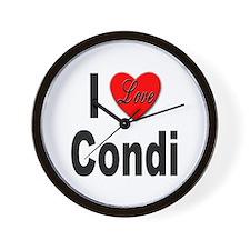 I Love Condi Wall Clock