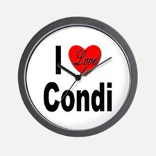 I Love Condi Wall Clock