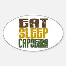 Eat Sleep Capoeira Oval Bumper Stickers