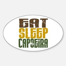 Eat Sleep Capoeira Oval Decal