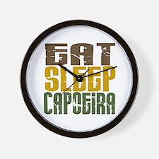 Eat Sleep Capoeira Wall Clock