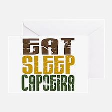 Eat Sleep Capoeira Greeting Card