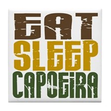 Eat Sleep Capoeira Tile Coaster
