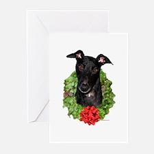 Black Wreath Greeting Cards (Pk of 20)