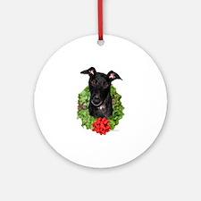Black Wreath Ornament (Round)