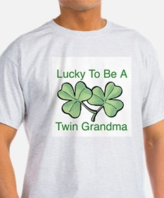 Lucky To Be A Twin Grandma T-Shirt