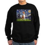 Starry Night & Basenji Sweatshirt (dark)