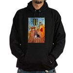 Room with a Basset Hoodie (dark)