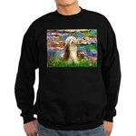 Lilies / Bearded Collie Sweatshirt (dark)