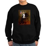 Lincoln & his Bichon Sweatshirt (dark)