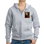 Lincoln & his Bichon Women's Zip Hoodie