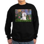 Lilies 4 / Bichon 1 Sweatshirt (dark)