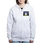 Starry Night Bichon Women's Zip Hoodie