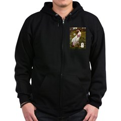 Windflowers & Bolognese Zip Hoodie (dark)
