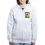 Spring & Border Collie Women's Zip Hoodie