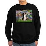 Lilies & Border Collie Sweatshirt (dark)