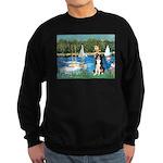 Sailboats & Border Collie Sweatshirt (dark)
