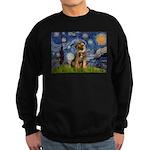 Starry Night / Border Terrier Sweatshirt (dark)