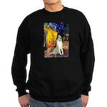 Terrace Cafe & Borzoi Sweatshirt (dark)