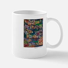 Ransom Note Art Quilt Mugs