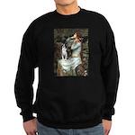 Ophelia & Boston Terrier Sweatshirt (dark)
