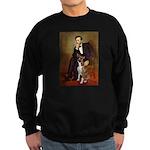 Lincoln & his Boxer Sweatshirt (dark)