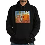 Room with a Boxer Hoodie (dark)