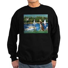 Sailboats & Boxer Sweatshirt