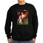 Seated Angel & Boxer Sweatshirt (dark)