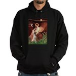 Seated Angel & Boxer Hoodie (dark)